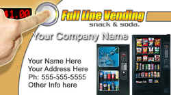 Vending Machine Service Business Cards #001
